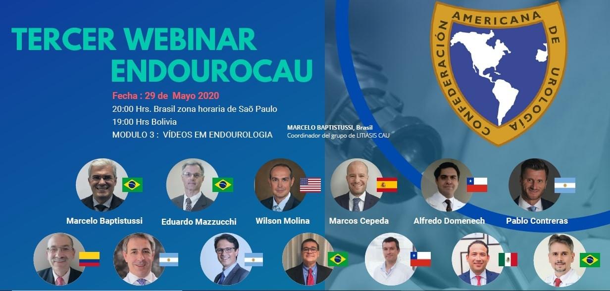Dr. Murilo Andrade participa do Tercer Webinar Endourocau